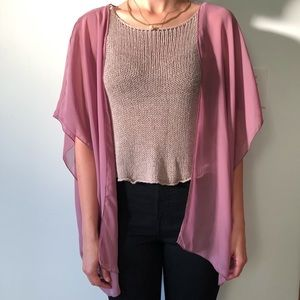 Sheer Coverup Lilac Size Small